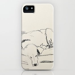 Elwood in a chair iPhone Case