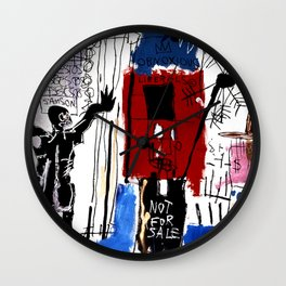 Jean-Michel Basquiat - Obnoxious Liberals , 1982 Wall Clock