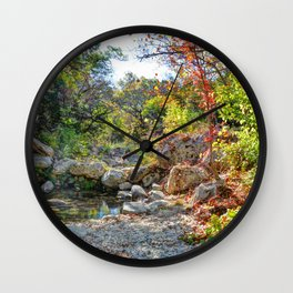 The Lost Maples Wall Clock