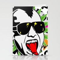 punk Stationery Cards featuring punk by mark ashkenazi