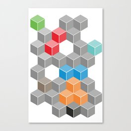 Isometric confusion Canvas Print