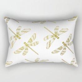 Golden Dragonflies Rectangular Pillow