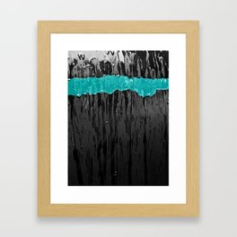 Aqua Stripe Framed Art Print