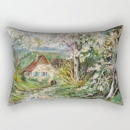 House by the lake Rectangular Pillow