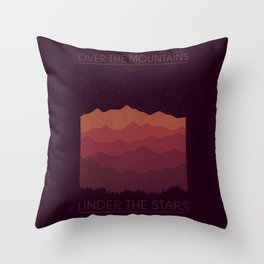 Over The Mountains Throw Pillow