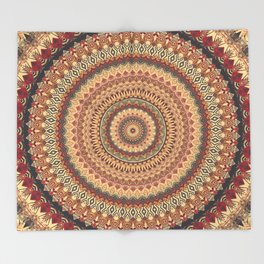 Earth Mandala 3 Throw Blanket