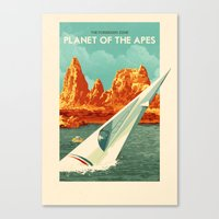 planet of the apes Canvas Prints featuring The Planet of the Apes by Rui Ricardo