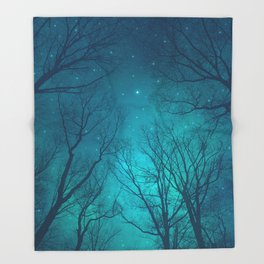 Only In the Darkness Throw Blanket