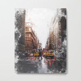 New York Streets Metal Print