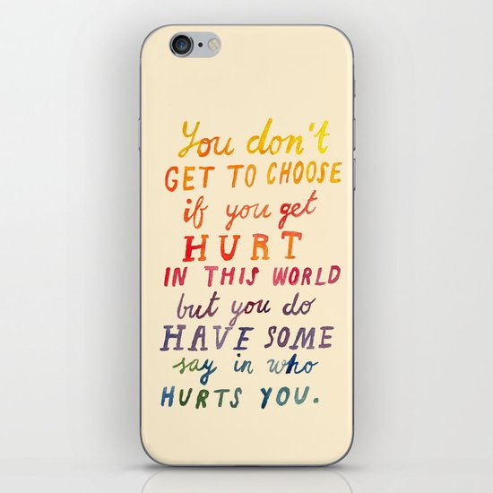 If You Get Hurt Poster iPhone & iPod Skin