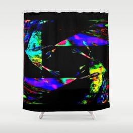 feedback pinwheel Shower Curtain