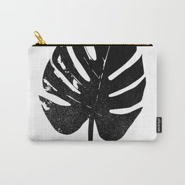 Monstera Leaf Silhouette Art Print Carry-All Pouch