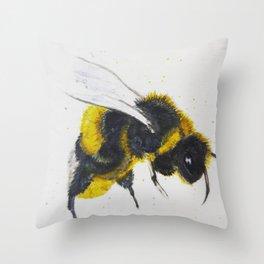Watercolor Bumble Bee Throw Pillow