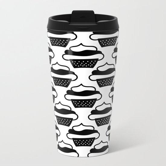 Black cupcakes Metal Travel Mug