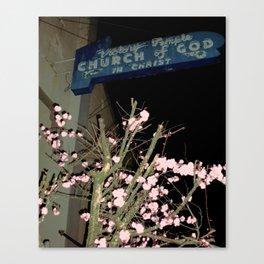 Neon Church Canvas Print