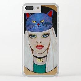 Miaw Girl Clear iPhone Case