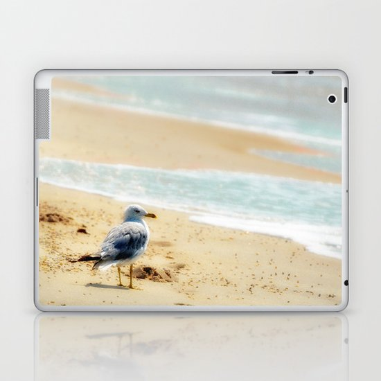 Lonely gull of summer. Laptop & iPad Skin