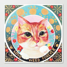 Love weed forever Canvas Print