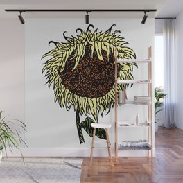 Wilting Sunflower Wall Mural