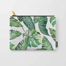 Jungle Leaves, Banana, Monstera #society6 Carry-All Pouch