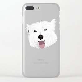 Skye the West Highland White Terrier Clear iPhone Case