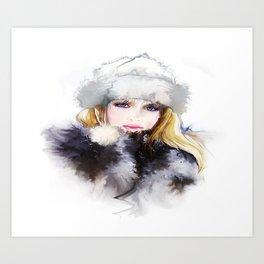 Watercolor Girl Art Print