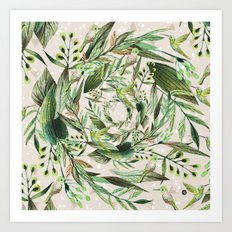 Nature in circles Art Print