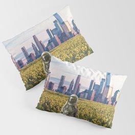 Astronaut in the Field-New York City Skyline Pillow Sham