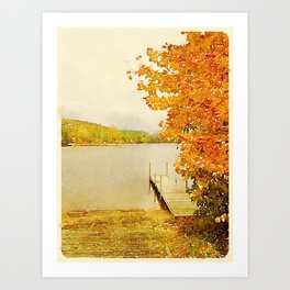 Crystal Lake, Maine Art Print