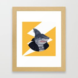 Punk Shark Framed Art Print
