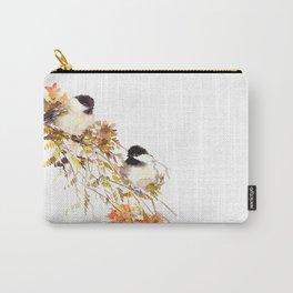Chickadee bird art, design, chickadees artwork Carry-All Pouch