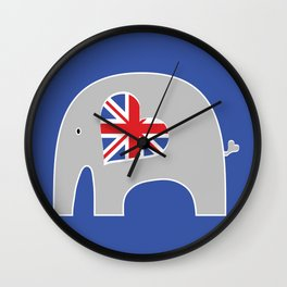 Earl Grey Elephant 2 Wall Clock
