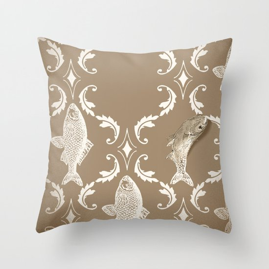 In which a fish frees itself Throw Pillow