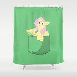 Pocket Fluttershy Shower Curtain