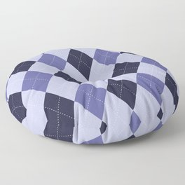 Blue Argyle Pattern Floor Pillow
