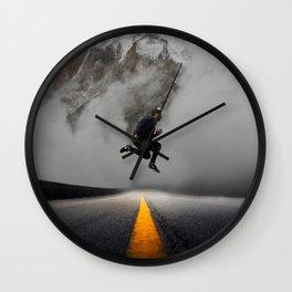 Magnetic Levitation - Power Mountain by GEN Z Wall Clock