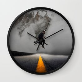 Magnetic Levitation - Power Mountain by GEN Z Wall Clock