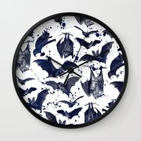 bats Wall Clocks featuring BATS by DIVIDUS DESIGN STUDIO