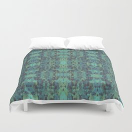 Sycamore Kaleidoscope - Graphite blue green Duvet Cover
