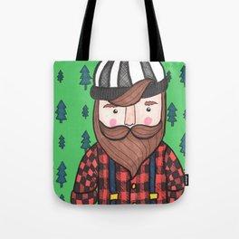 Timber Lumberjack Tote Bag