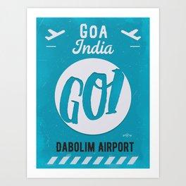 GOI GOA airport tag Art Print
