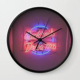 Cocktails & Dreams Neon Wall Clock