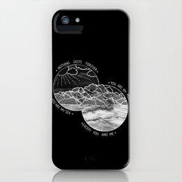 mountains-biffy clyro (black version) iPhone Case