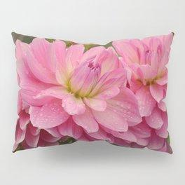 Fresh Rain Drops - Pink Dahlia Pillow Sham