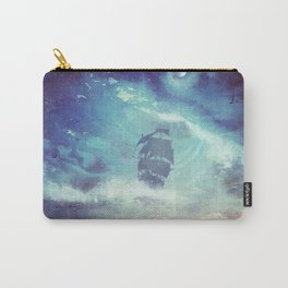 Surreal Pirate Ship // Abstract Space Wave // Pirate Galaxy Carry-All Pouch