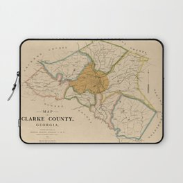 Map Of Athens 1898 Laptop Sleeve