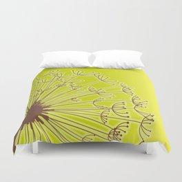 Dandelion Flower Green Duvet Cover