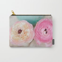 ranunculus pink flowers Carry-All Pouch
