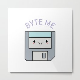 Cute Floppy Disk Metal Print