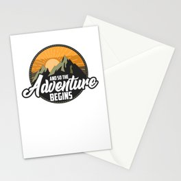 And So The Adventure Begins Camping Hiking Stationery Cards
